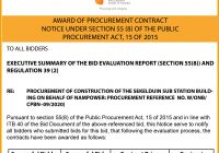 AWARD OF PROCUREMENT CONTRACT:  SEKELDUIN SUBSTATION